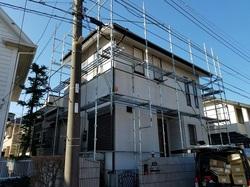 横浜市青葉区荏田西で雨樋交換及び部分塗装工事