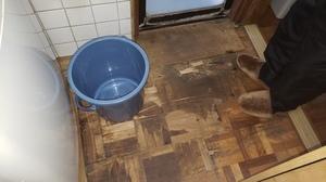 横浜市青葉区市が尾町で洗面室床改修工事