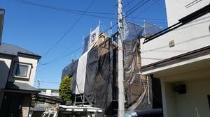日本ペイントダイヤモンドコート塗装 調布市染地・三鷹市中原で同時施工中です。
