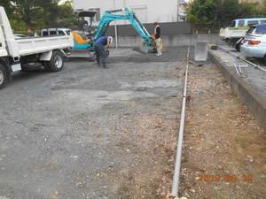 横浜市青葉区荏田町 駐車場路盤改修工事