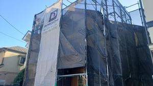横浜港北区・調布市布田で外壁屋根塗装工事