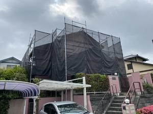 横浜市青葉区市が尾町で外壁塗装・屋根上葺き工事