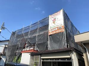 調布市染地で外壁塗装屋根葺き替え工事