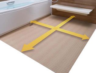 新登場の浴槽やカウンターで、浴槽も洗い場も、リフォーム前よりゆったり大きくひろがります。