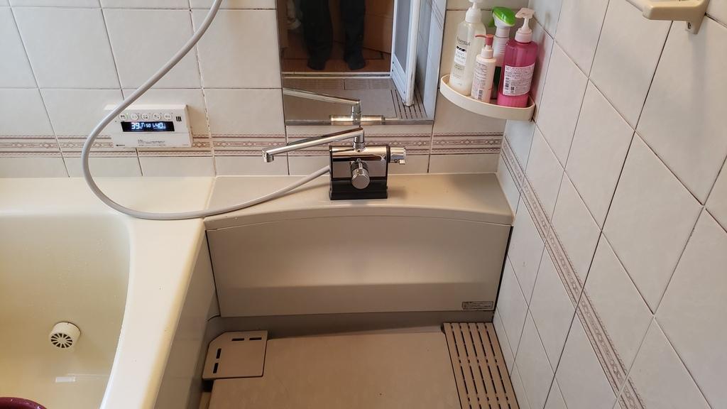 横浜市青葉区U様邸 浴室サーモシャワー水栓交換