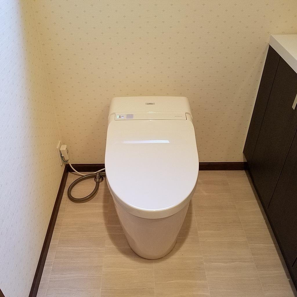 調布市布田でトイレ交換工事
