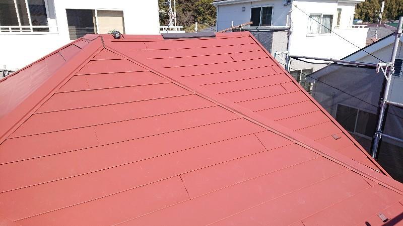 台風で破損屋根上葺き工事