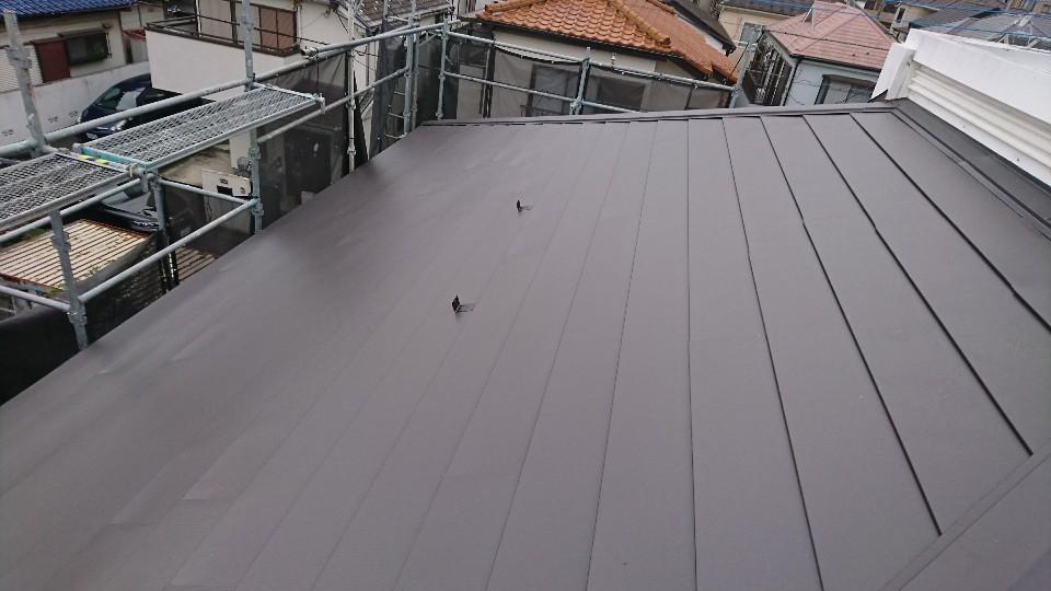 調布市多摩川屋根上葺き工事