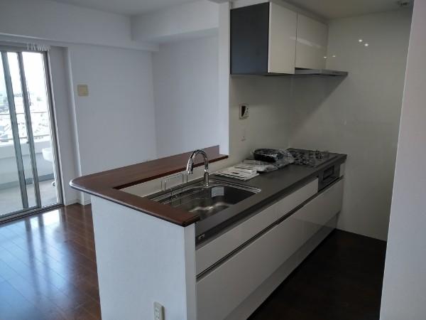 マンションキッチン交換・エコカラット取付工事