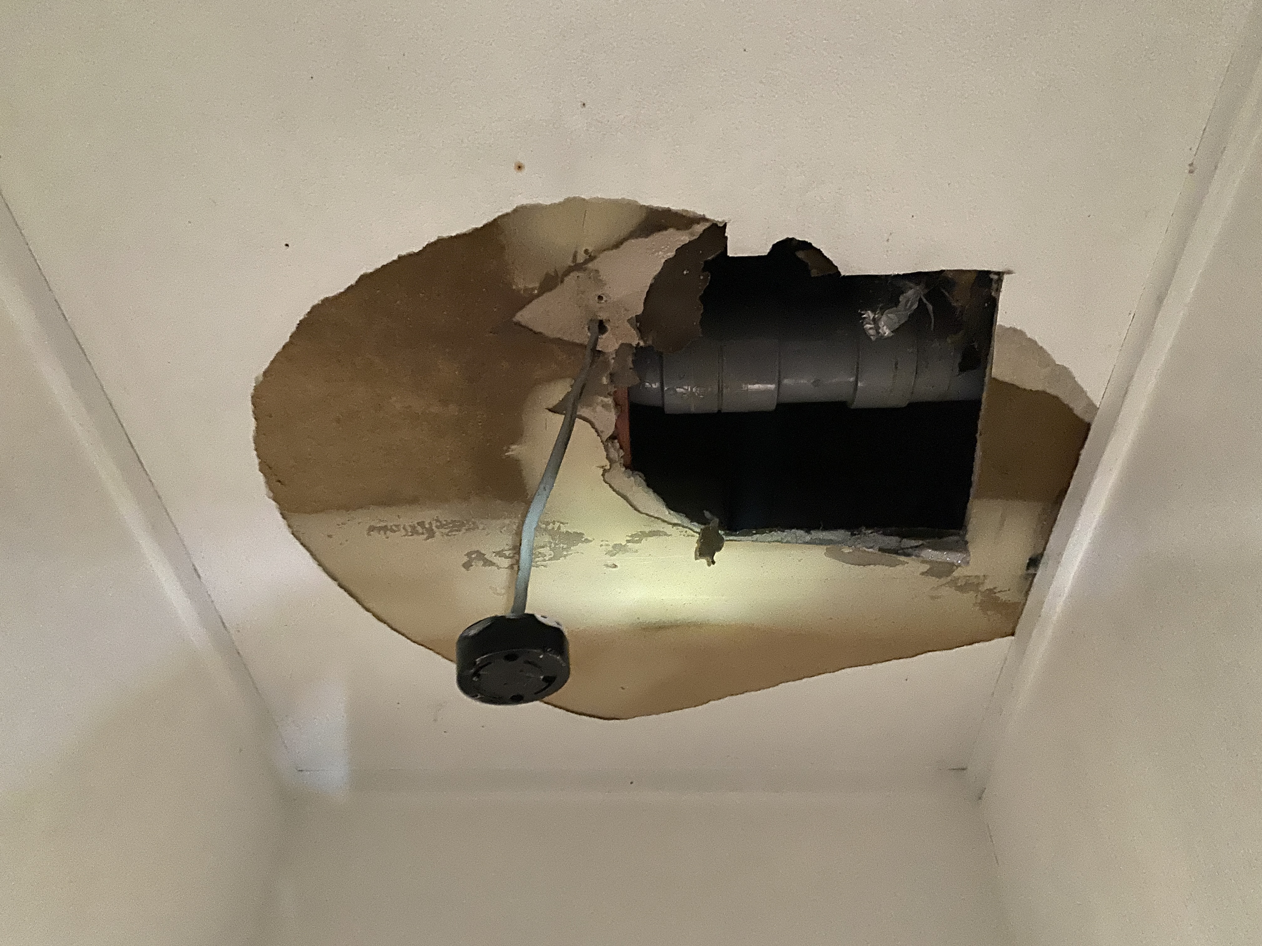1F天井を解体しました