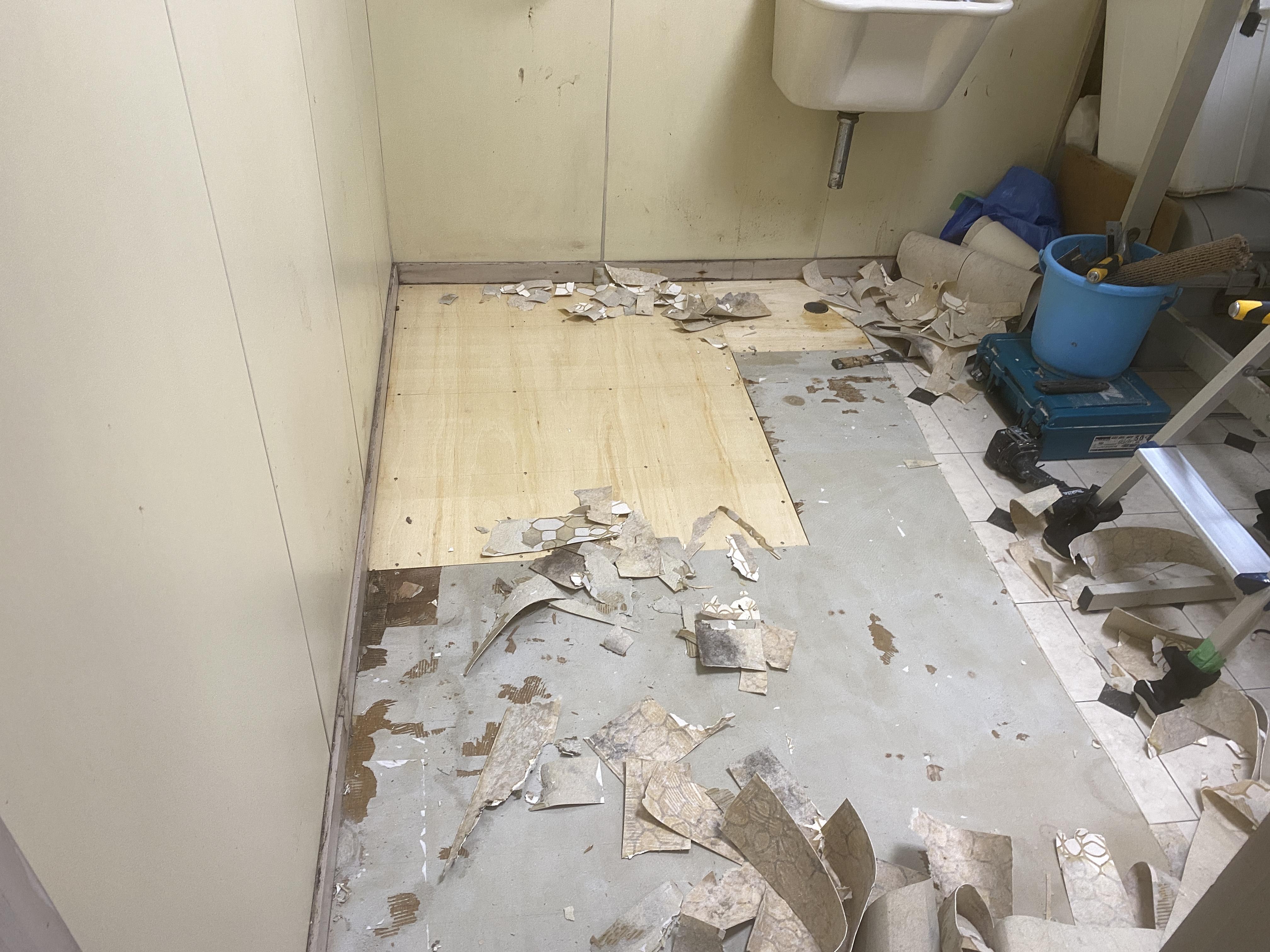床材を補修